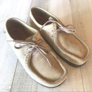 Clarks Original Wallabee Tan Suede Lace Shoes